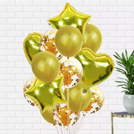 Golden Latex and Foil balloons: Buy Balloons