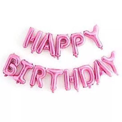 Happy Birthday Alphabet Balloon Set: Balloons
