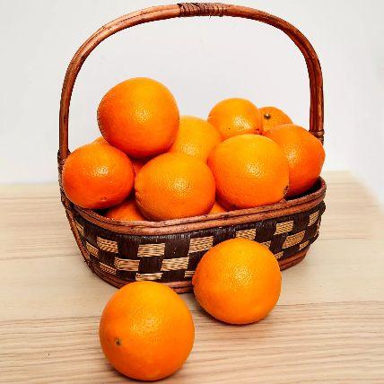 Healthy Basket Of Oranges: