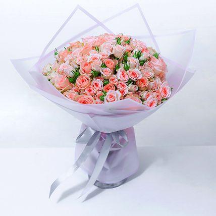 Exotic Peach Spray Roses Bouquet: Flowers  in Saudi Arabia