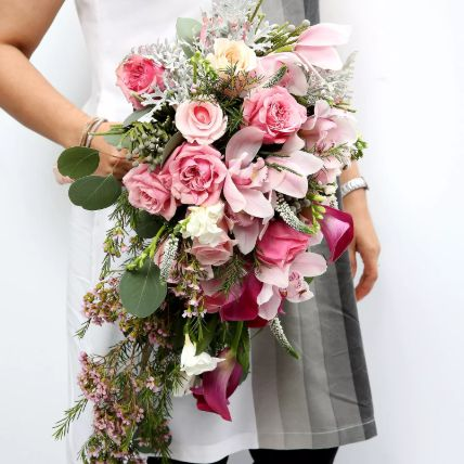 Mixed Roses and Calla Lilies Bouquet: