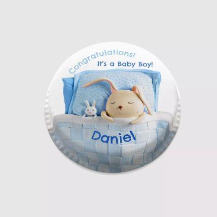 Bunny Baby Photo Cake: New Born Cakes