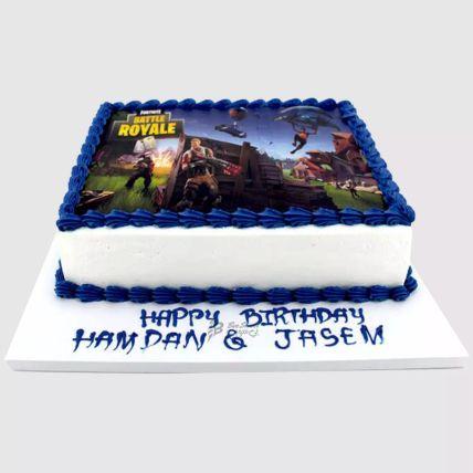 Fortnite Battle Photo Cake: Designer Cakes