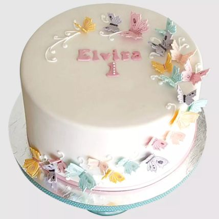 Magical Butterflies Cake: First Birthday Cakes