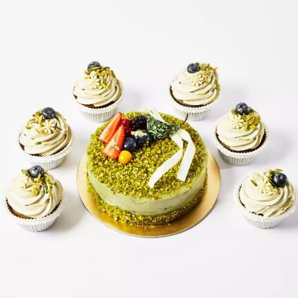 Pistachio Cake and Cup Cakes: Gifts for Eid