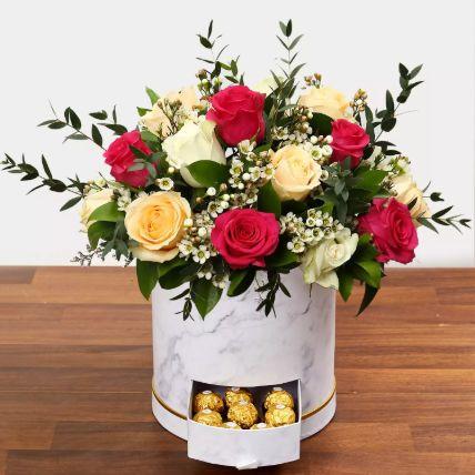 Beautiful Mixed Roses Arrangement: Eid Gifts
