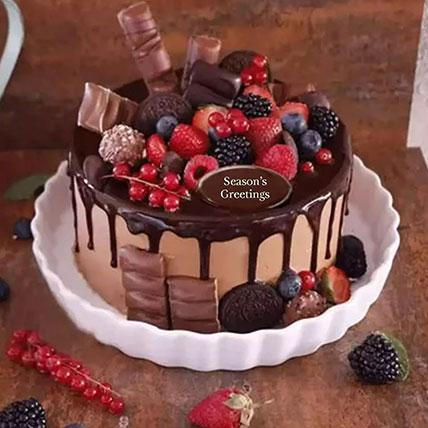 Candy Topped Chocolate Cake: Ramadan Gifts