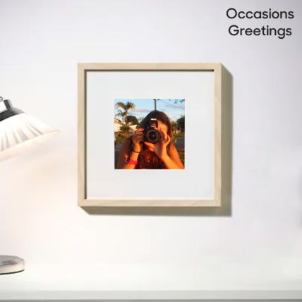Birch Effect Classy Photo Frame: Personalised Gifts