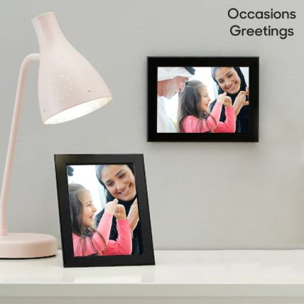 Black Classy Photo Frame: Personalized Gifts Delivery