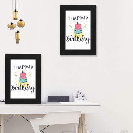 Happy Birthday Black Photo Frame: Photo Frames