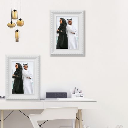White Photo Frame: Personalized Gifts Delivery
