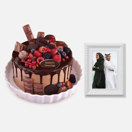 Chocolate Cake & Photo Frame: Gifts for Father's Day