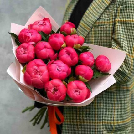 Uptown Love Peonies Bouquet: Flower Bouquets
