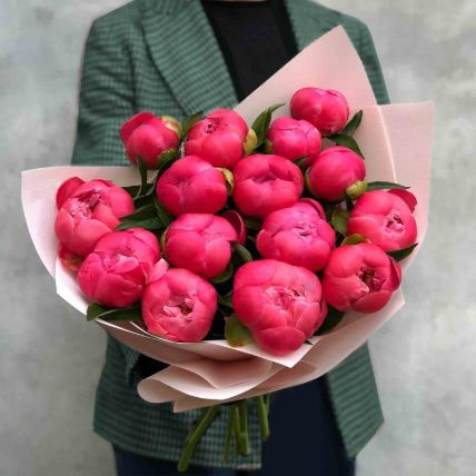Young Love Peony Bouquet: Flower Bouquets
