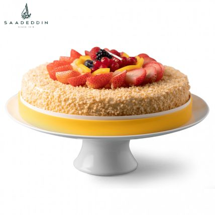 Mouth Watering Cream Fruit Cake By Saadeddin:  Cake Delivery