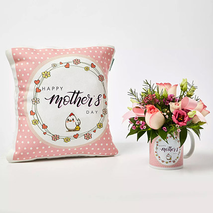 Best Wishes To Cute Girl Mother: Buy Cushions