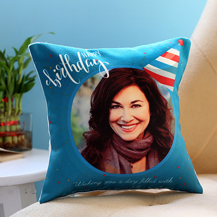 Personalised Birthday Cap Cushion: Buy Cushions