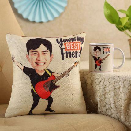 My Best Friend Personalised Cushion & Mug: Personalised Gifts