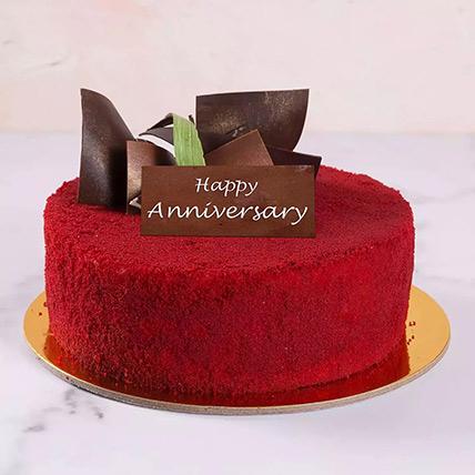 4 Portion Red Velvet Cake For Anniversary: Wedding Anniversary Cake
