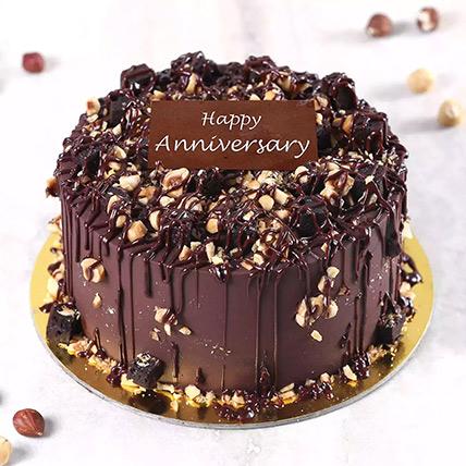 500gm Crunchy Chocolate Hazelnut Cake for Anniversary: Wedding Anniversary Cake