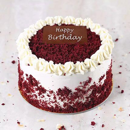 Creamy Red Velvet Cake for Birthday Half Kg for Birtdhay: Red Velvet Cake