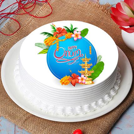 Delicious Happy Onam Photo Cake: Order Cakes