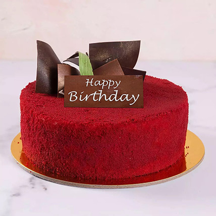 Half Kg Red Velvet Cake For Birthday: Order Red Velvet Cakes
