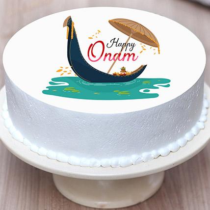 Happy Onam Photo Cake: Order Cakes