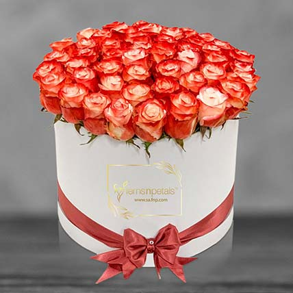 Cabaret Roses In A Box: Flowers In Box