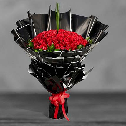 Ravishing Red Roses Premium Bouquet: Flower Bouquets
