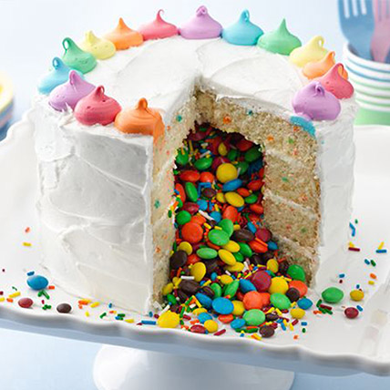 Rainbow Surprise Cake: Pinata Cakes