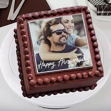 Enticing Love Photo Cake: Order Truffle Cakes