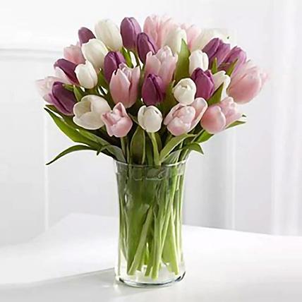 Painted Skies Tulip Bouquet: Premium Flowers