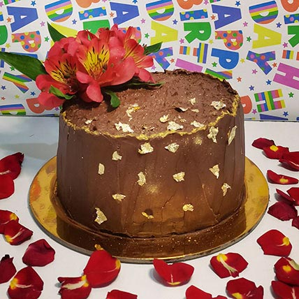 Chocolate Cake With Flower: Chocolate Cake Shop
