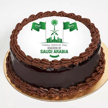 National Day Chocolate Truffle Cake: Saudi National Day Gifts