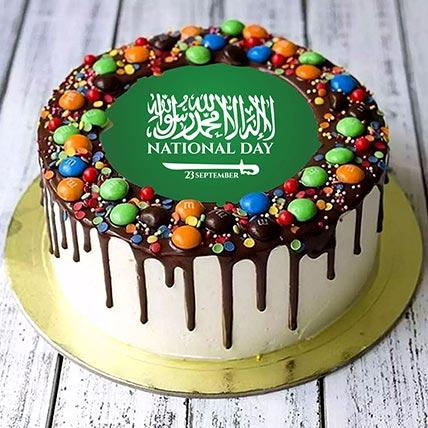 National Day Theme MM Chocolate Cake :