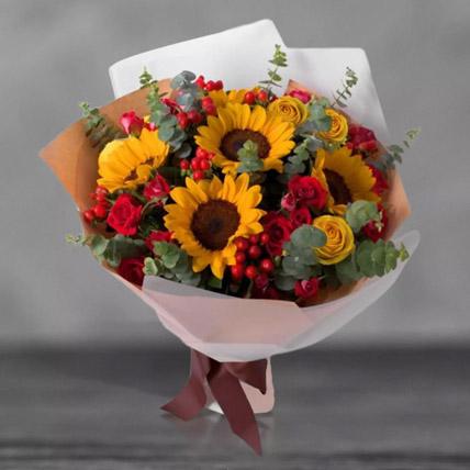 Mixed Sunflowers Bouquet: Premium Flowers