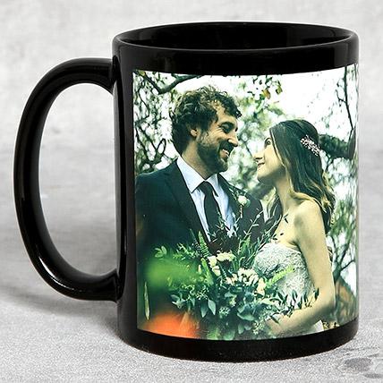 Classic Black Personalised Mug