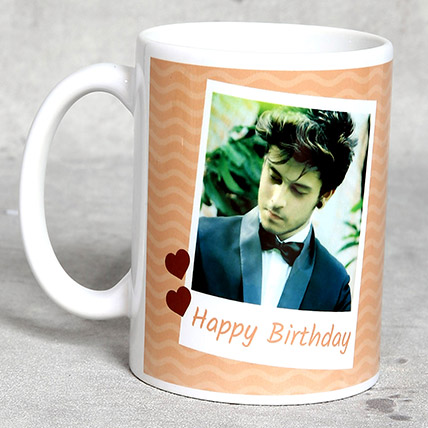 Classic White Personalised Birthday Mug