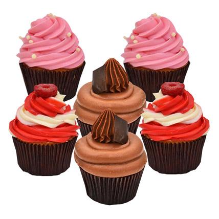 Six Yummy Cupcakes