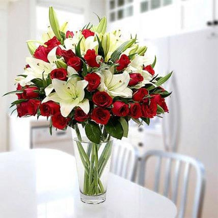 Cherish Joy With Lilies And Roses