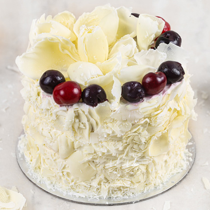 Heavenly White Forest Cake Half Kg