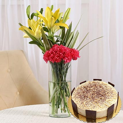 Happy Flowers & Tiramisu Cake 4 Portions