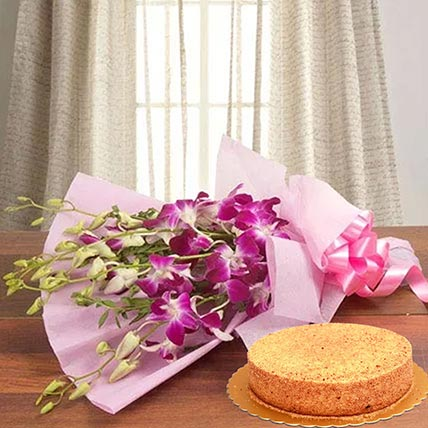 Purple Orchids & Honey Cake 12 Portions
