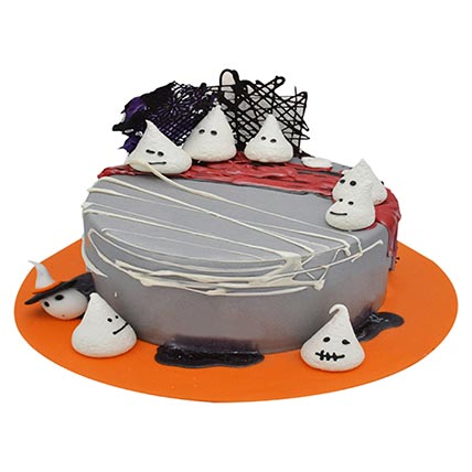 Chocolate Halloween Ghost Cake