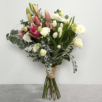 Tulips and Lilies Bouquet