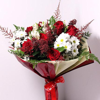Christmas Themed Flower Bouquet