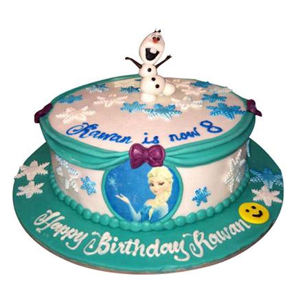 Snowman N Elsa Cake