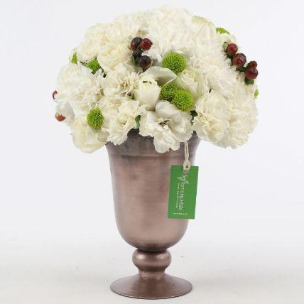 Carnations & Roses Trophy Arrangement