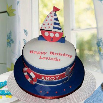 Ahoy Captain Theme Cake 8 Portions Vanilla